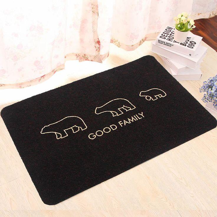 Индивидуальные Non - коврик дверь embrodery медведь коврики для спальни гостиной детская ног пэт главная ковров и ковры бесплатная доставка