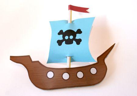 pirate-ship-printable: Pirates Ships, Pirate Ships, Birthday Parties, Brave Birthday, Birthday Party, Bradley S Birthday, Birthday Brainstorms, Birthday Ideas