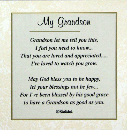 happy birthday grandson poems - Google Search