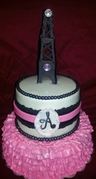 paris theme baby shower cake my cakes pinterest