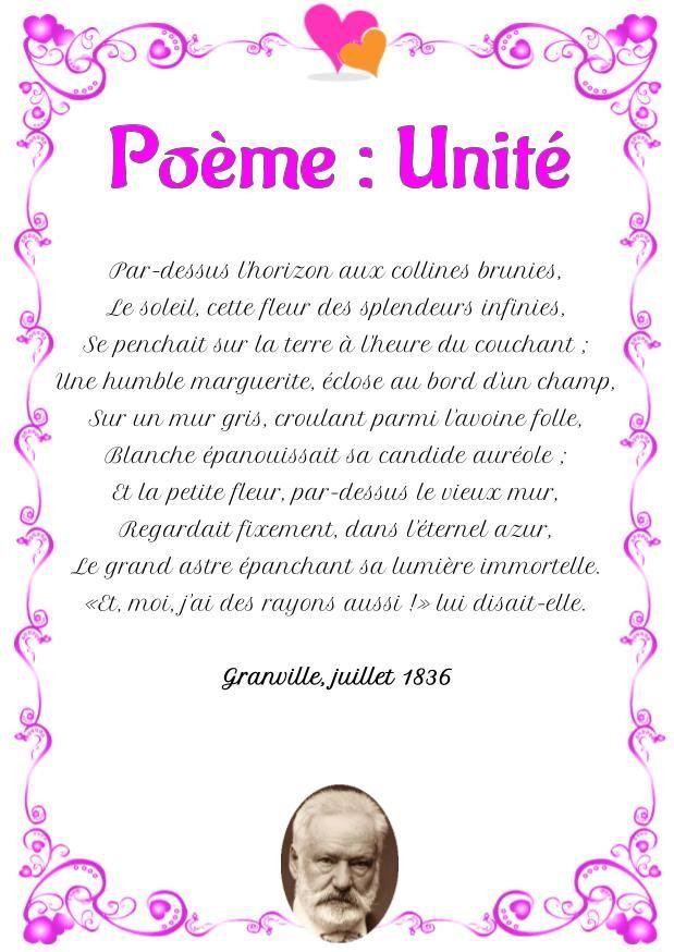 Victor Hugo Poeme D Amour : victor, poeme, amour, Poésie, D'amour:, Unité, Poème, Victor