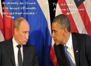 En l'absence du pr�sident russe Vladimir Poutine, l'ex�cutif am�ricain insiste sur la n�cessit� de maintenir les sanctions pesant contre Moscou, accus� de soutenir la r�bellion dans l'Est de l'Ukraine s�paratiste. On voit que l'UE en suivant aveugl�ment...