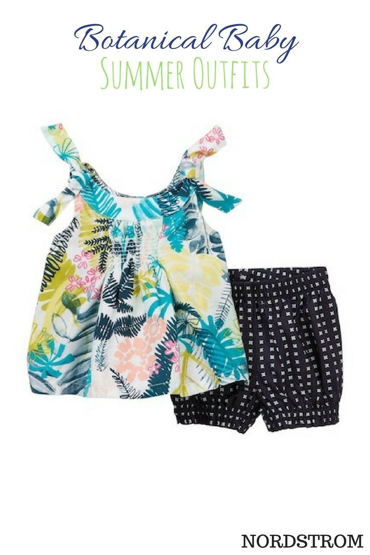 Adorable summer outfits for baby and toddler.  baby girl | outfits | fashion | clothes | summer | spring | floral | cute | stylish | afflink