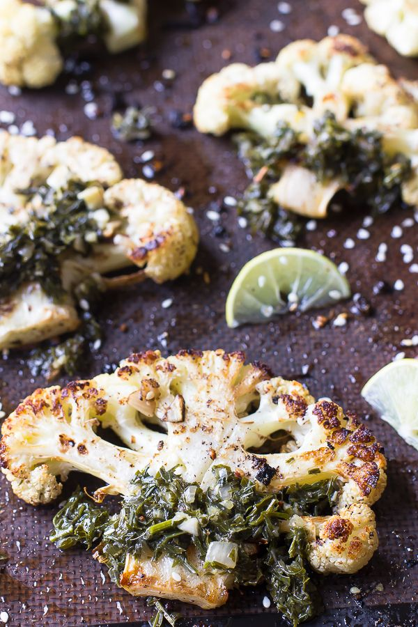 Za'atar Roasted Cauliflower Steaks