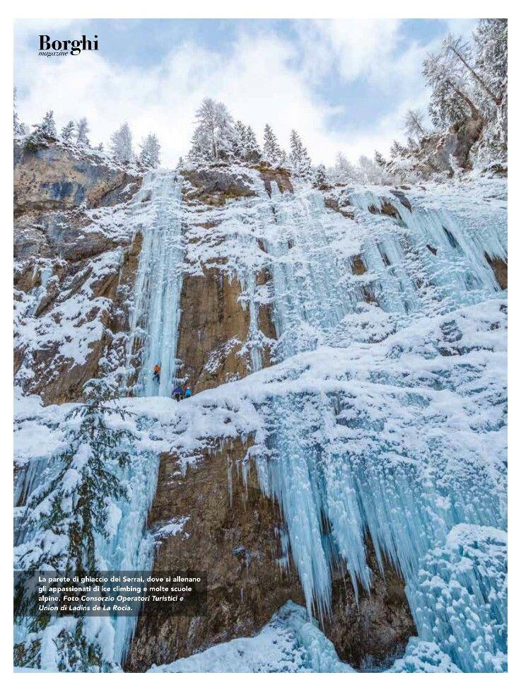 Parete di ghiaccio del Serrai #italianvillages #dolomiti #borghitalia #serrai #turism #borghipiubelliditalia #viaggi #visitveneto