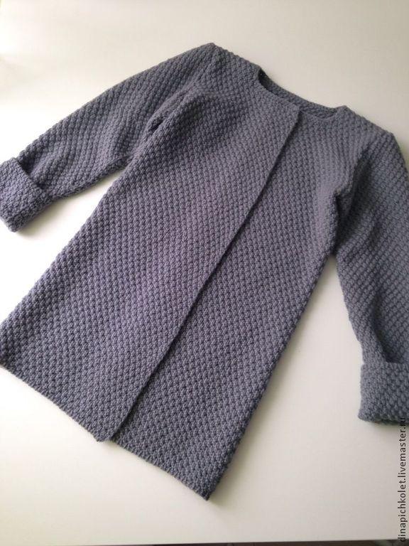 Детское пальто - серый,пальто,детское пальто,вязаное пальто,кардиган вязаный