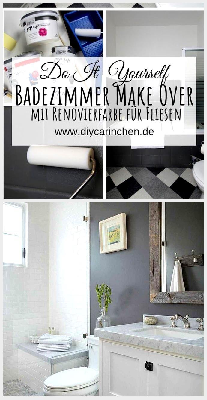 Diy Badezimmer Streichen Und Renovieren Mit Fliesenfarbe In 2020 Badezimmer Streichen Fliesenfarbe Renovieren