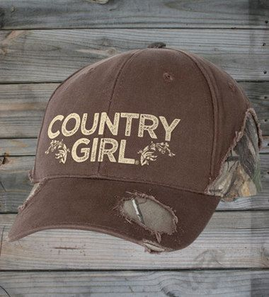 Country Girl® Frayed Camo Hat
