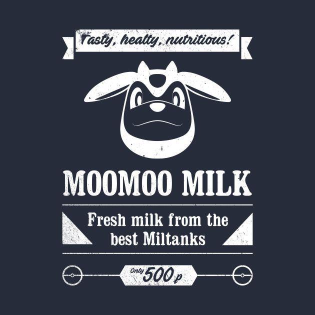 MooMoo Milk Ad from Pokémon on @teepublic #pokemon #videogame #gaming #miltank #geek #shirt #ad