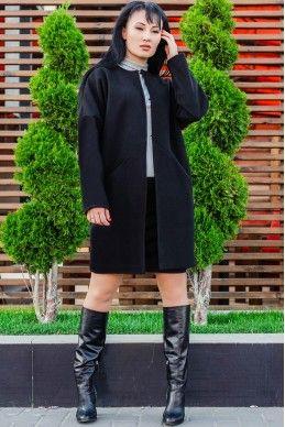 """Короткое пальто """"Маргарита"""", черный"""