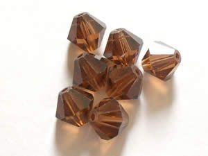 Smoked Topaz - Swarovski Crystal Elements 5301/5328 Xilion Bead Bicones 8mm  #smokedtopaz #Swarovski #crystal #crystalbeads #5328 #5301 #bicones #jewelrysupplies #anybeads