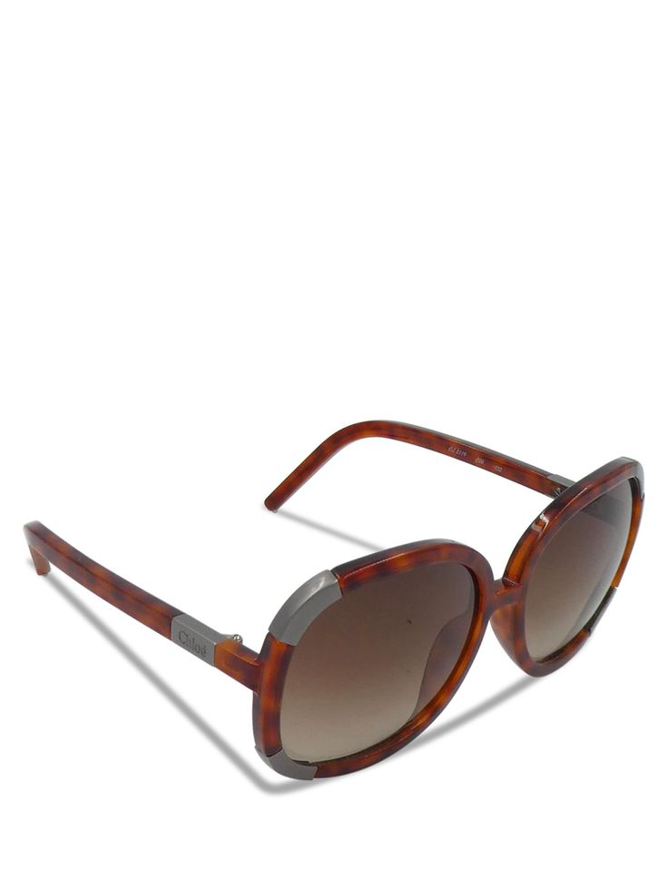 Chloe Brown Tortoise Shell Myrtle Round CL 2119 Sunglasses