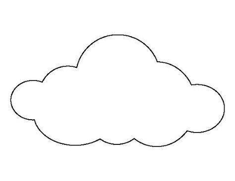 Large cloud pattern. Use the printable outline for crafts ...
