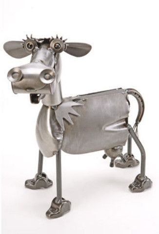 Cow metal sculpture – Cow Art and More