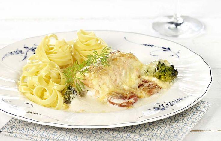 Visvinkjes met broccoli in de oven