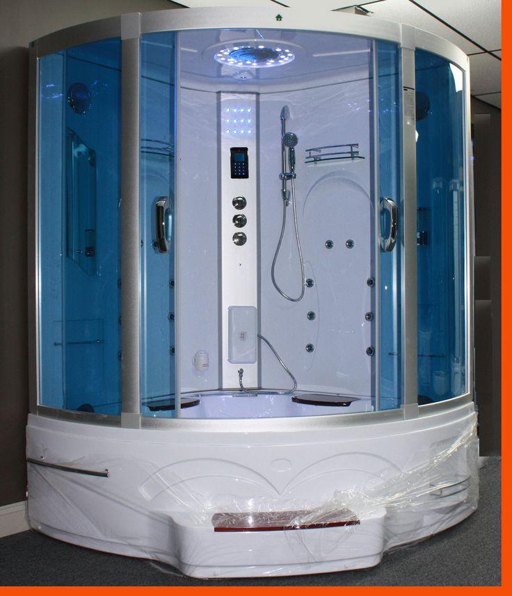 Big Steam Shower Room W Whirlpool Tub Jacuzzi Bluetooth