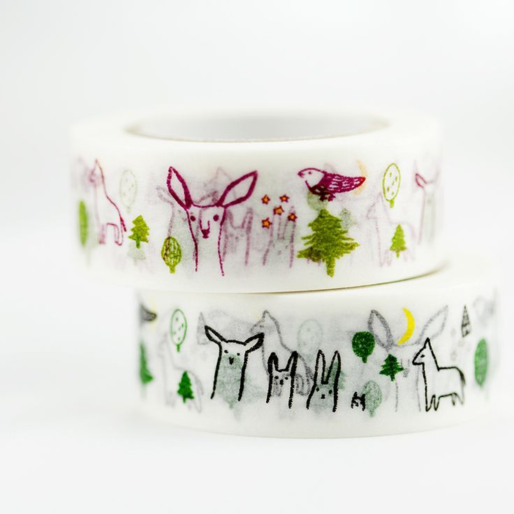 Cute little animals hiding in the forest.18mmx10mMade in Japan.