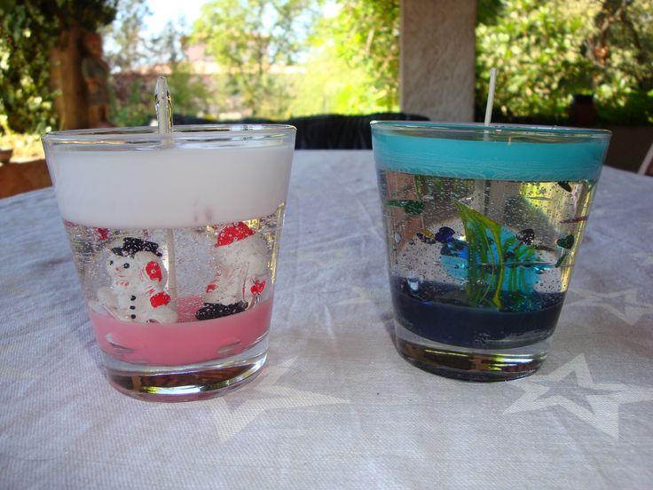 Bougies gel et paraffine