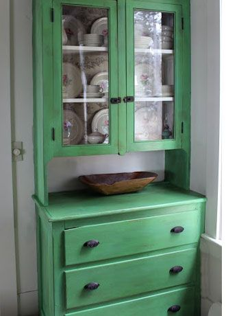 Easy & Creative Decor Ideas - Redecorated Kitchen Cupboard - Click Pic for 38 DIY Home Decor Ideas on a Budget