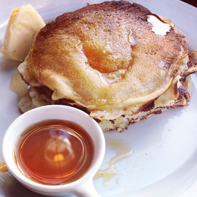 Breakfast Of Champions , or Goodbye Blue Monday...Traditional Dutch #Pancakes with Maple Syrup and Butter