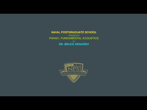 NPS Physics - Ph 3451: Acoustics - Lecture 28 - Classical absorption | molecular relaxation