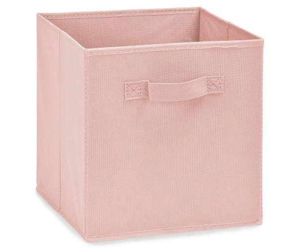 Blush Pink Fabric Storage Bin Big Lots In 2020 Fabric Storage Bins Pink Storage Boxes Fabric Storage