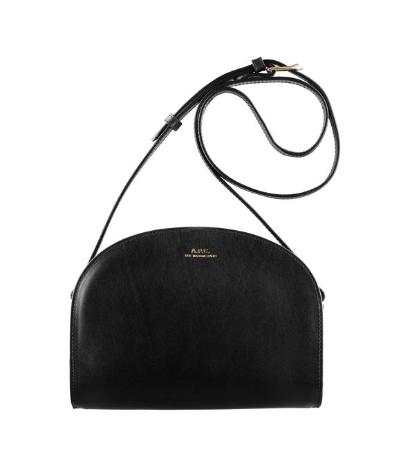 A.P.C., Half Moon Bag, black, leather, crossbody, purse | Wear ...