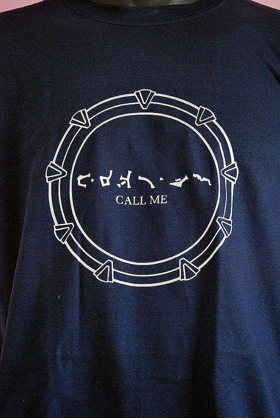 Stargate navy call me chevron shirt unisex by MadModesty on Etsy