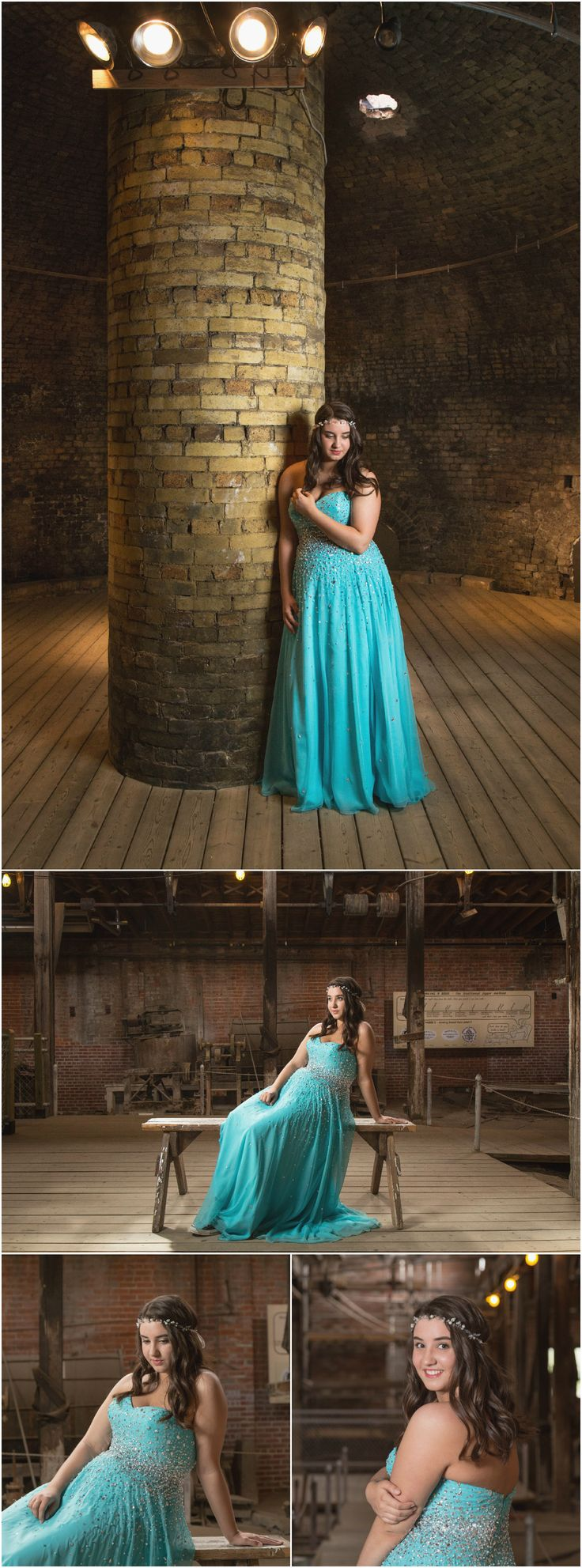 High School Graduation 2015 Highlights | Medicine Hat Photography.  Photo ideas for grad student in teal dress with crystals for prom. Taken by Woods Photography at Medalta Potteries in Medicine Hat.  #graduation #prom #medaltapotteries