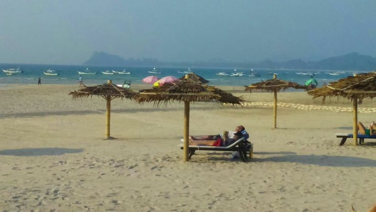 Bay of #Bengal, where we enjoyed our last days on white #beaches to recover from our extensive biking in #myanmar
