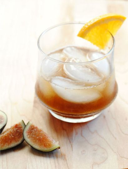 The Fig Old Fashioned - fresh figs, bourbon, maple syrup and...yes... balsamic vinegar