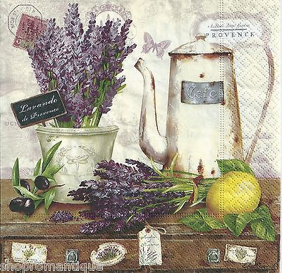 4 x Single PAPER NAPKINS Lavande de Provence Vintage Style DECOUPAGE SET in Crafts, Cardmaking & Scrapbooking, Decoupage   eBay
