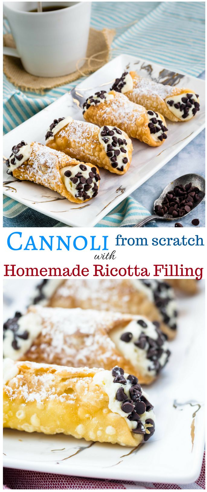 I have a love affair with this dessert. When I make cannoli, I start by making the dough for the shells and the fresh ricotta on the day before I want to eat it or serve it. The shell is a very sim…