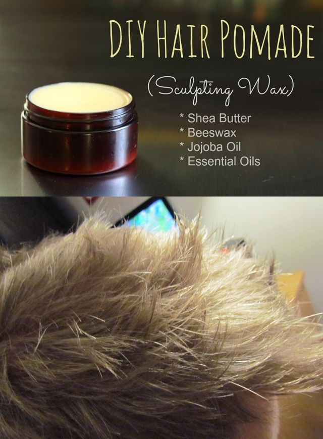 DIY Hair Pomade (Sculpting Wax) | The Mommypotamus | Optional: Vegetable Glycerin and/or Vitamin E Oil