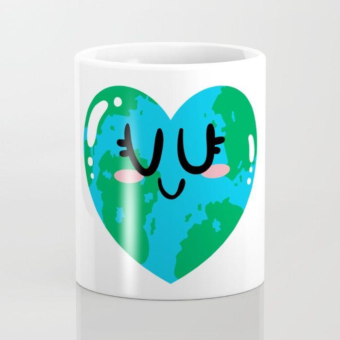 I Love Earth Mug by Adrian Serghie | Society6