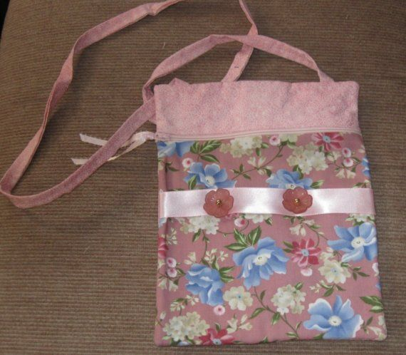 Pink Floral Purse by QuiltsbySusan on Etsy
