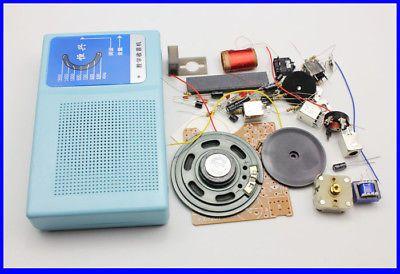 DIY Kits Superheterodyne Radio Receiver 6 Transistor + sch + case w/ Speaker