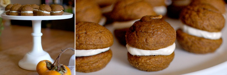 Mini pumpkin whoopie pies by Michael Anthony of Gramercy Tavern in NYC