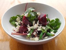 Baby Beetroot, Puy Lentil Salad With Soft Goat Cheese & Pickled Onion