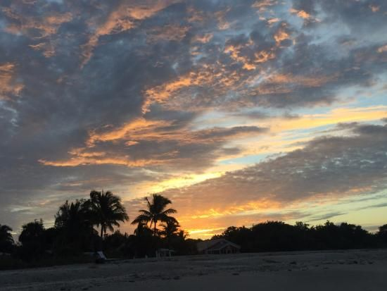 Beautiful sunrise, early morning shelling, Sanibel Island's Bowman's Beach, Florida