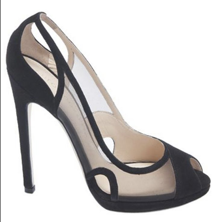 Chloe Gosselin knows how to make a beautiful shoe. Peep-toe and sheer!