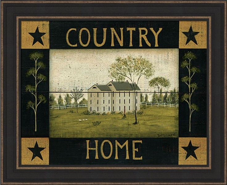 Country Home Willow Tree Primitive Framed Art Print Ebay