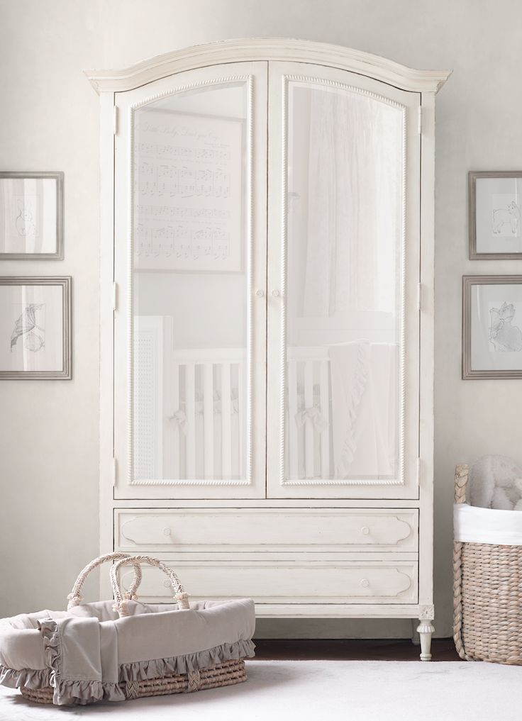 beautifully practical. when it comes to children's rooms, nothing matters more than storage. an armoire is a great option - it keeps nursery supplies tucked behind closed doors now and organizes a growing collection of toys, clothing and media later.