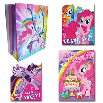 My Little Pony Official Birthday Pack Includes; 1 x Birthday Card, 1 x Medium sized gift bag, 1 x Pack of 10 Party Invitations, 1 x Pack of 10 Thank You Cards. Only £7.50 and FREE UK Delivery. Take a closer look now at https://www.danilo.com/Shop/Cards-and-Wrap/Birthday-Packs/My-Little-Pony-Birthday-Pack