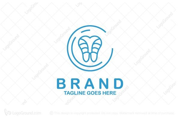 Modern logo of a stylized tooth that has circles around it. Color is blue.