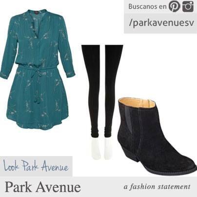 Nuestra recomendación de look de hoy: Vestido, leggins y botines Nine West. Nos encantan :)