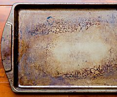 Remember when you first bought your bakeware? The cookie sheets were all shiny and new, the glass casserole dishes were literally spotless. Look at that bakeware now. After a few years (or even months) of caked-on food, burnt cookies, rust, and just the...