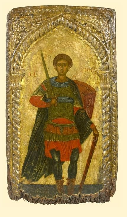 Saint Demetrios - exhibited at the Temple Gallery, specialists in Russian icons