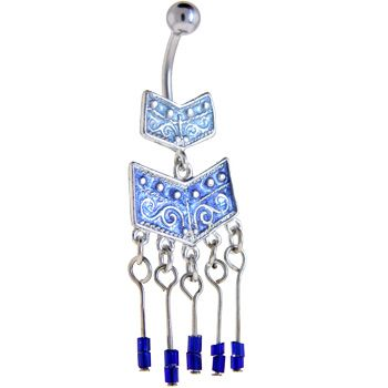 Sapphire Blue SOUTHWESTERN CHANDELIER Belly Ring | Body Candy Body Jewelry