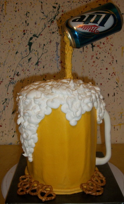 If I ever need to make a cake for my dad, it will look something like this. :)